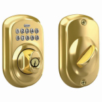 Schlage Lock BE365VPLY505 Plymouth Brass Keypad Deadbolt