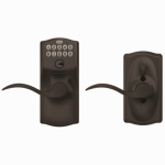 Schlage Lock FE595VCAMXACC716 Aged Bronze Keypad Entry Lock With Flexible or Flex Lock