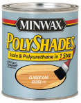 Minwax The 61770 1-Qt. Classic Oak Gloss Polyshades Wood Stain