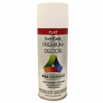 True Value Mfg PDS5-AER Enamel Spray Paint, White Flat, 12-oz.