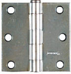 National Mfg/Spectrum Brands Hhi N195-651 2-Pk., 3 x 3-In. Zinc Broad Hinges