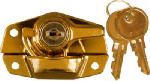 National Mfg/Spectrum Brands Hhi N183-723 Window Sash Lock, Keyed, Bright Brass Finish