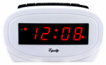 La Crosse Technology 30227 Alarm Clock, White, 0.6-In. Red LED Display