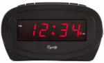 La Crosse Technology 30228 Alarm Clock, Black,  0.6-In. Red LED Display