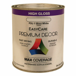 True Value Mfg PDL1-QT Premium Decor Enamel Paint, White Gloss, Qt.