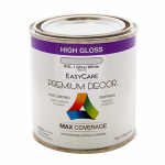 True Value Mfg PDL1-HP White Gloss Enamel Paint, 1/2-Pt.