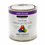 True Value Mfg PDL2-HP Premium Decor Black Gloss Enamel Paint, 1/2-Pt.