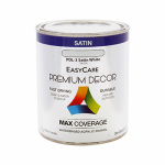 True Value Mfg PDL3-QT Premium Decor White Satin Enamel Paint, Qt.