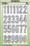 Hy-Ko Prod MM-32N 2-Inch Silver Vinyl Prism Number Set