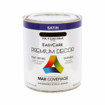 True Value Mfg PDL4-QT Premium Decor Black Satin Enamel Paint, Qt.