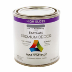 True Value Mfg PDL71-HP Premium Decor Pewter Gray Gloss Enamel Paint, 1/2-Pt.