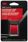 3M 03458 Reflective Safety Tape, Red, 1 x 36-In.