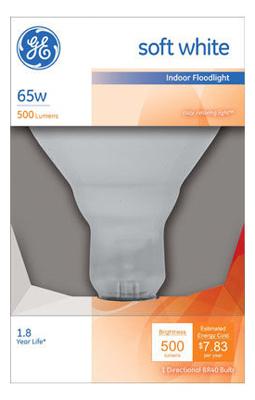 G E Lighting 14016 65-Watt Reflector Indoor Miser Floodlight Bulb
