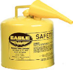 Eagle Mfg UI-50-FSY Safety Diesel Gas Can, Yellow Type I, 5-Gal.