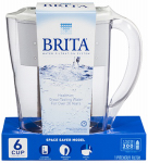 Clorox Sales Co Brita Div 35250 Space Saver 1/2-Gallon Smart Water Filtration Pitcher