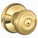 Schlage Lock F40V GEO 605 Brass Georgian Privacy Lockset