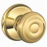 Schlage Lock F10V GEO 605 Brass Georgian Passage Lockset