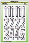 Hy-Ko Prod MM-33N House Address Number Set, Peel & Stick, Silver/Prism Vinyl, 3-In.