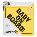 "Safety 1St/Dorel 48918 Yellow ""Baby On Board"" Sign"