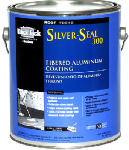 Gardner-Gibson 5175-A-34 Silver Seal 300 Aluminum Roof Coating, Fibered, 3.6-Qts.