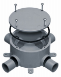 Thomas & Betts E970CDE-CTN Electrical PVC Round Junction Box