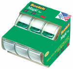 3M 3105 3 Pack 3/4x300 Scotch Magic Invisible Tape