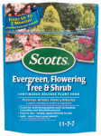 Scotts Miracle Gro 1009101 Continuous Release Evergreen Flowering Tree & Shrub  11-7-7 Formula, 3-Lb.