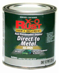 True Value Mfg XO35-HP Oil-Base Paint, Gloss, Regal Red, Interior/Exterior, 1/2-Pt.