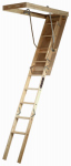 Louisville Ladder S224P Attic Ladder, Wood, Limit 250-Lbs., 8-Ft. 9-In.