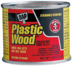 Dap 21434 Plastic Wood Cellulose Fibre Wood Filler, Walnut, 4-oz.
