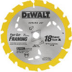 Dewalt Accessories DW3592B10 7.25-Inch 18-TPI Carbide Blade
