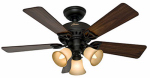 Hunter Fan 53082 Beacon Hill Ceiling Fan With Light Kit, New Bronze, 5 Blades, 42-In.