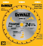 Dewalt Accessories DW3178 Thin-Kerf Framing Blade, 7.25-In., 24-Teeth