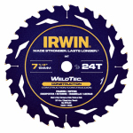 Irwin Industrial Tool 24035 Marathon Circular Saw Blade, 7.25-In., 24-Teeth