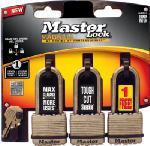 Master Lock M1XTRILHCCSEN Magnum 3-Pack 1-3/4 Inch Laminated Padlock
