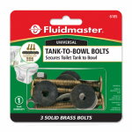 Fluidmaster 6105 Tank-To-Bowl Bolts, 2.75-In., 3-Ct.