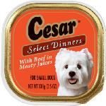 Mars Petcare US 2451 3.5OZ Cesar Steak Food - 24 Pack