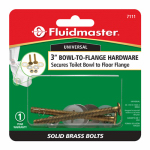 Fluidmaster 7111 3-1/2-Inch Bowl-to-Floor Bolts