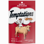 Mars Petcare Us 72302 Whiskas 3-oz. Temptations Beef Cat Snack