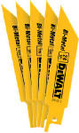 Dewalt Accessories DW4812 5-Pk., 4-In. 24-TPI Bi-Metal Reciprocating Saw Blade