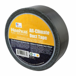 Berry Global 1087340 All-Climate Duct Tape, Black, 1.89-In. x 60-Yd.