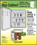 Hy-Ko Prod KO302 Key Cabinet, Lockable, Holds 24 Keys, Plastic