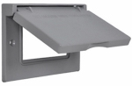 Hubbell Electrical Products 1C-GHX GFCI Single-Gang Flip Cover, Horizontal, Weatherproof, Gray
