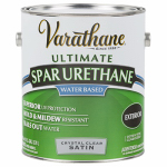Rust-Oleum 250231 Varathane Gallon Outdoor Crystal Clear Satin Finish