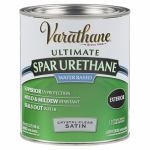 Rust-Oleum 250241H Spar Urethane, Outdoor, Crystal Clear Satin, 1-Qt.