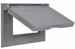 Hubbell Electrical Products 1C-GH Gray Weatherproof Horizontal GFI Single Gang Flip Cover