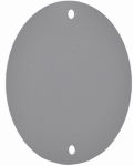 Hubbell Electrical Products RBC-4 Gray Weatherproof Round Blank Cover