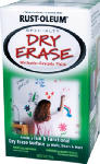 Rust-Oleum 241140 Dry Erase Brush On Paint, White, Qt.