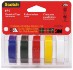 3M 10457 Scotch 5-Pack 1/2 x 240-Inch Professional Quality Electrical Tape