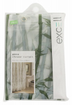 Ex-Cell Home Fashions 1ME-040O0-3066-311 Soft Sensations Shower Curtain, Anti-Mildew PEVA, Green Bamboo, 70 x 72-In.